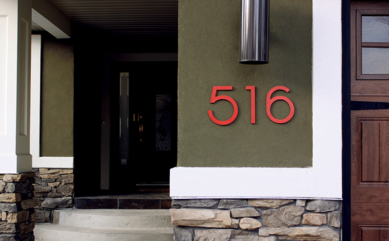 modern neutra house numbers ld backlit surrounding top left neutra